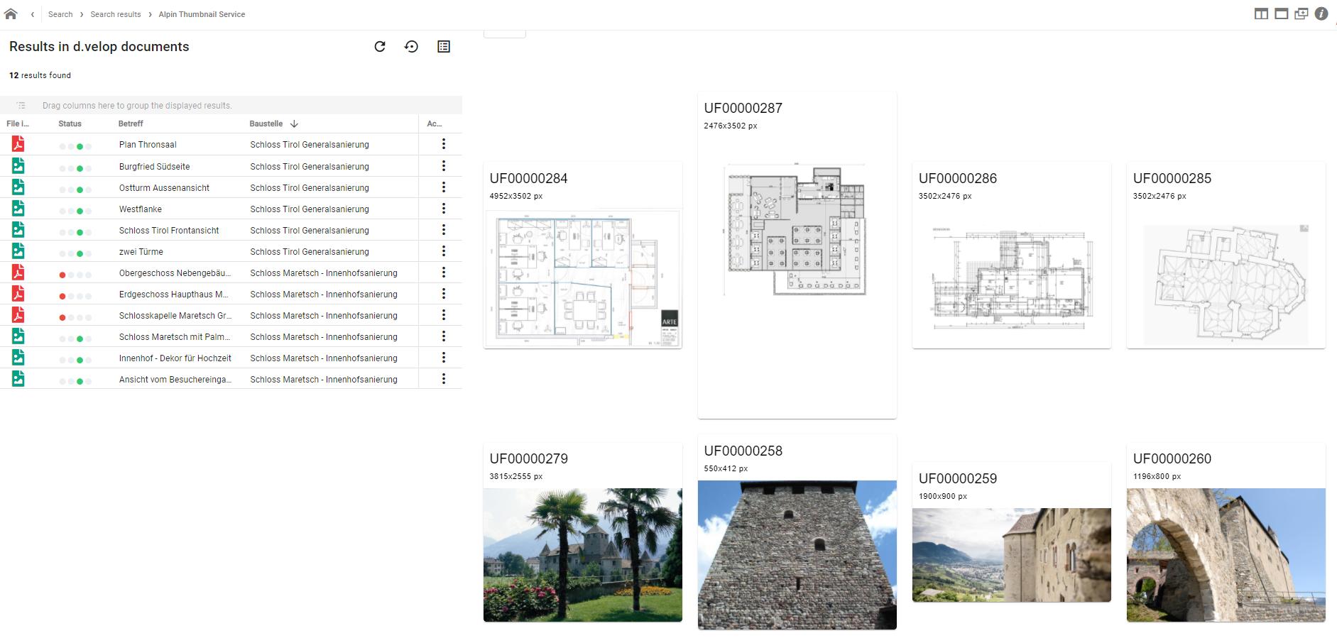 Thumbnail-App for d.velop documents / d.3ecm