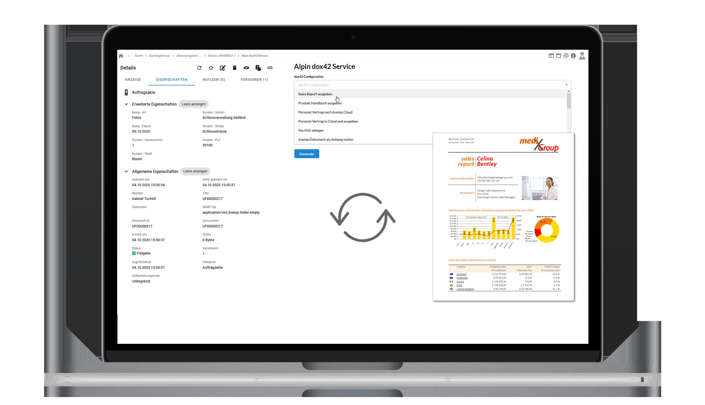 dox42 App for d.velop documents / d3.ecm